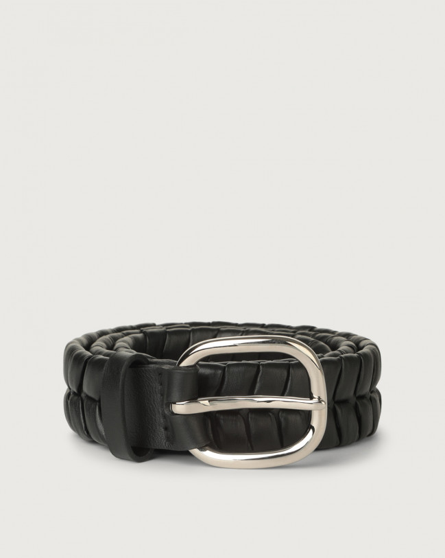 Orciani Liberty leather belt 4 cm Leather Black
