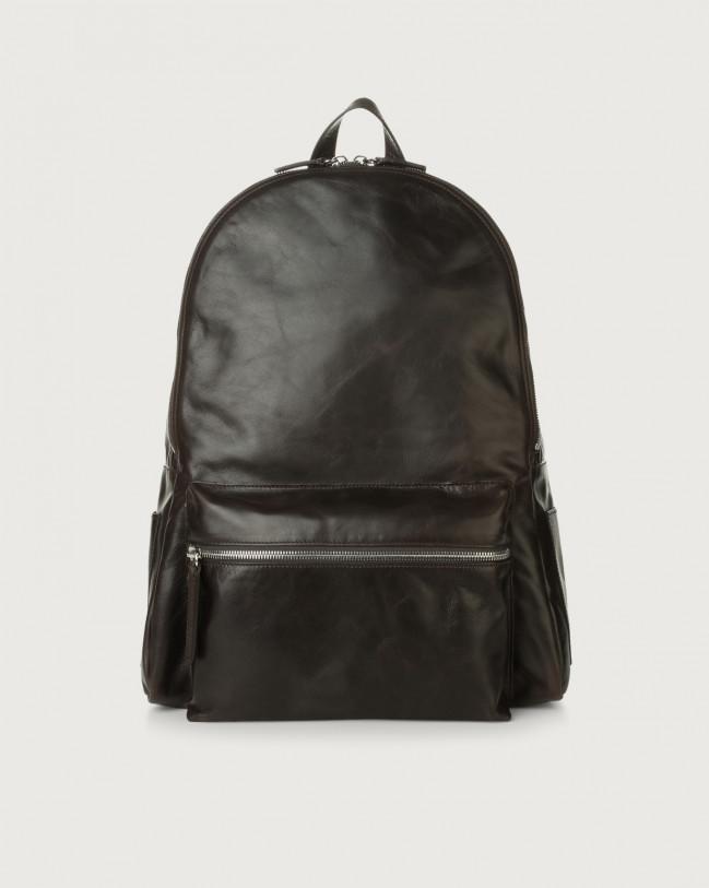 Orciani Artik leather backpack Leather Chocolate