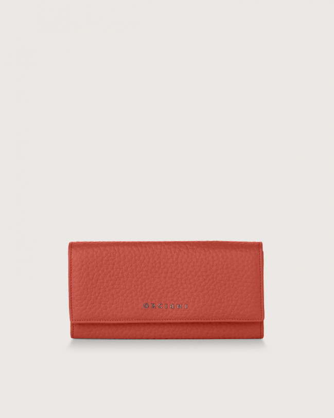 Orciani Soft leather envelope wallet with RFID Leather Brick