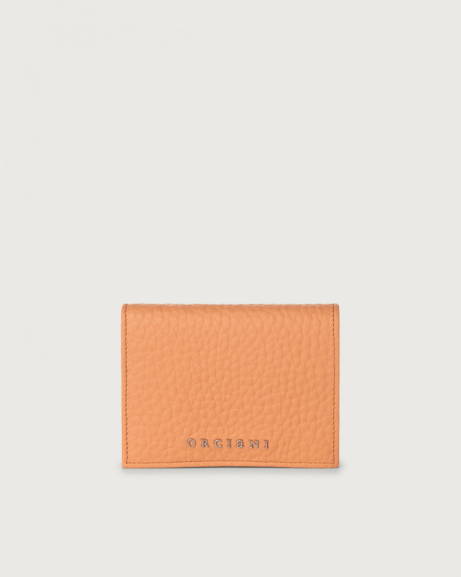 Orciani Soft small leather wallet with RFID Leather Fard