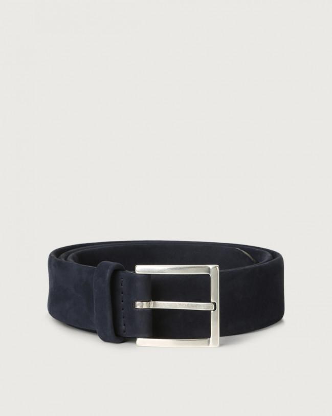 Orciani Long Beach nabuck leather belt Nabuck Deep blue