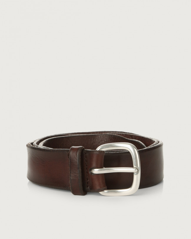 Orciani Bull Soft leather belt Leather Chocolate
