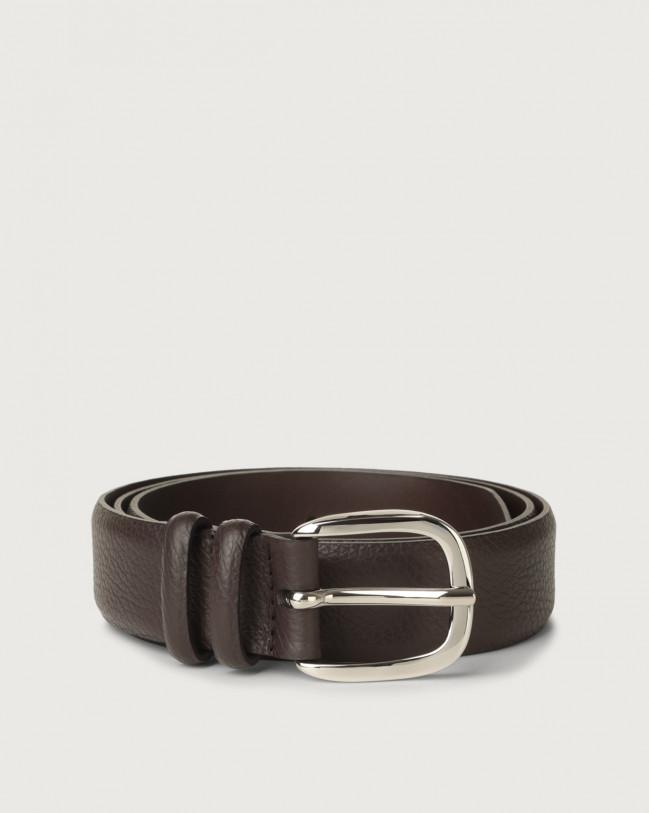 Orciani Dollaro leather belt Leather Ebony