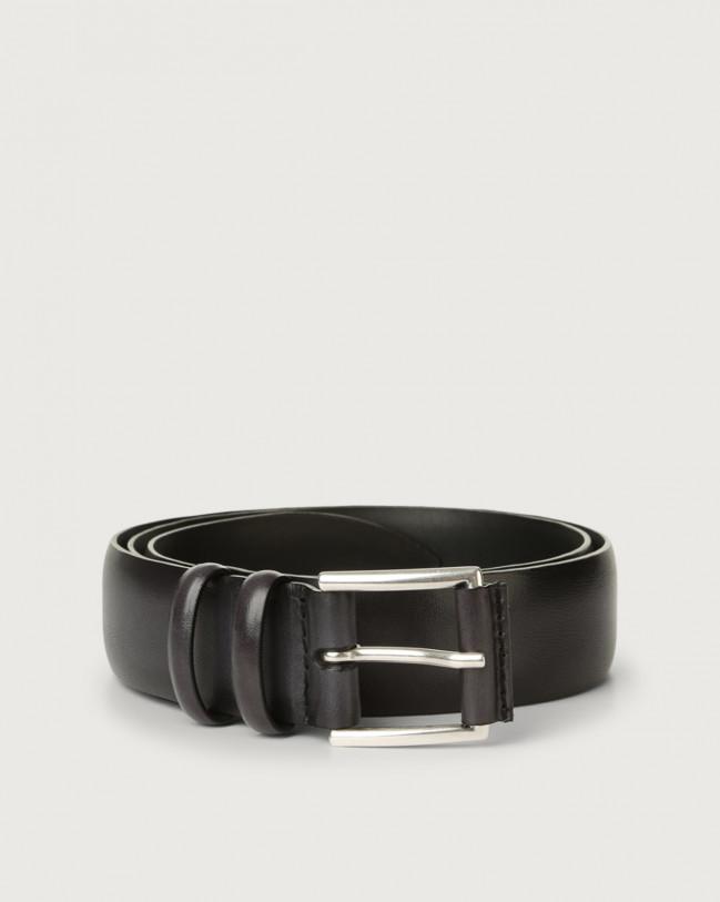 Orciani Buffer leather belt Leather Black