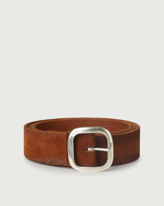 Orciani Hunting Double suede and leather belt 3,5 cm Leather, Suede Honey