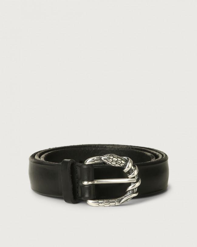Orciani Bull Soft A leather belt 3 cm Leather Black