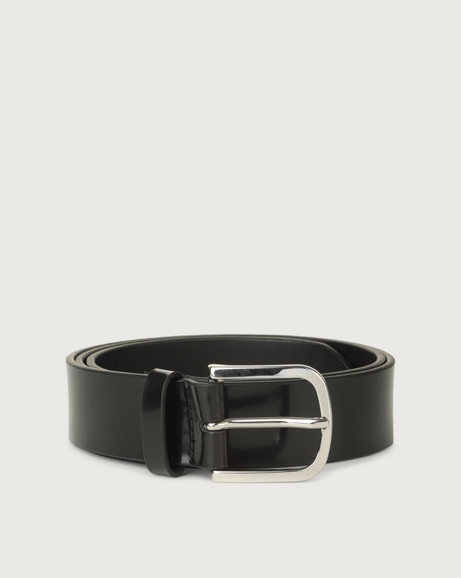 Orciani Bright classic patent leather belt Leather, Patent Black