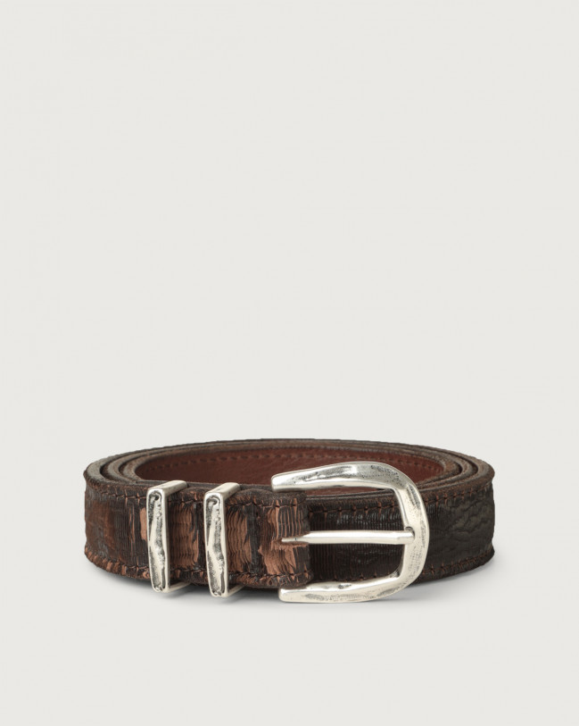 Orciani Cutting leather belt 2,8 cm Leather Chocolate