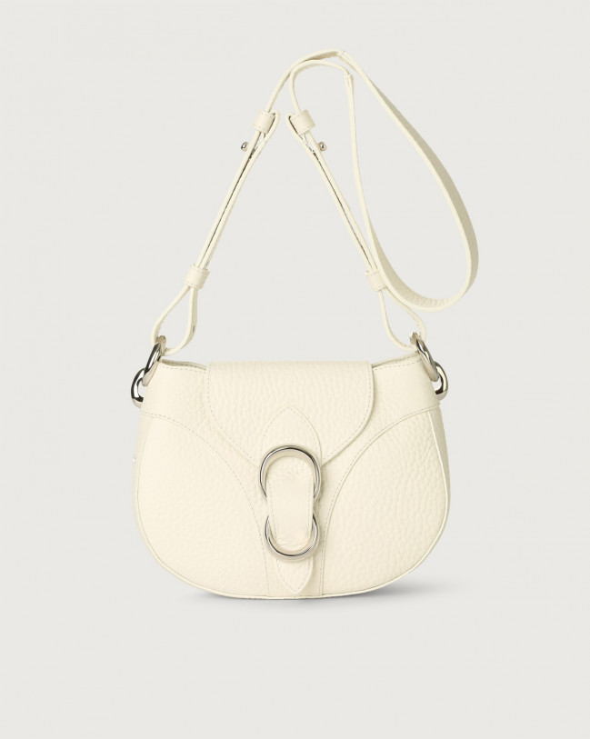 Orciani Beth Soft leather crossbody bag Leather White