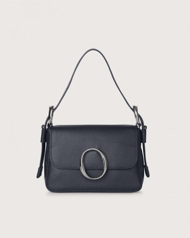 Orciani Soho Micron leather mini bag with strap Leather Navy