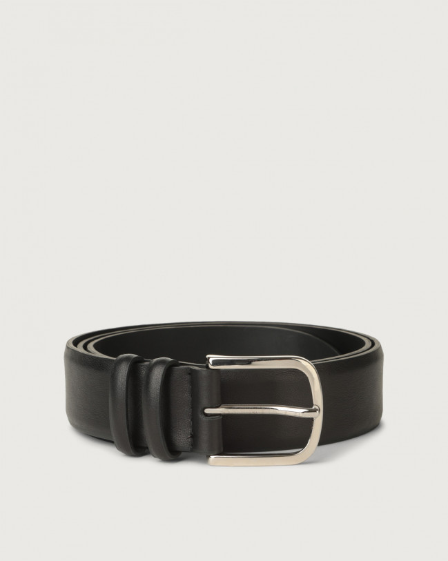 Orciani Bali classic leather belt Leather Black