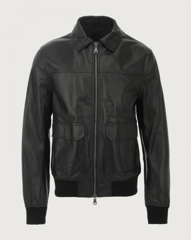 Orciani Nappa Nature leather jacket Leather Black