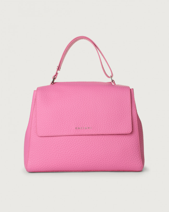 Orciani Sveva Soft medium leather shoulder bag Leather Fuchsia