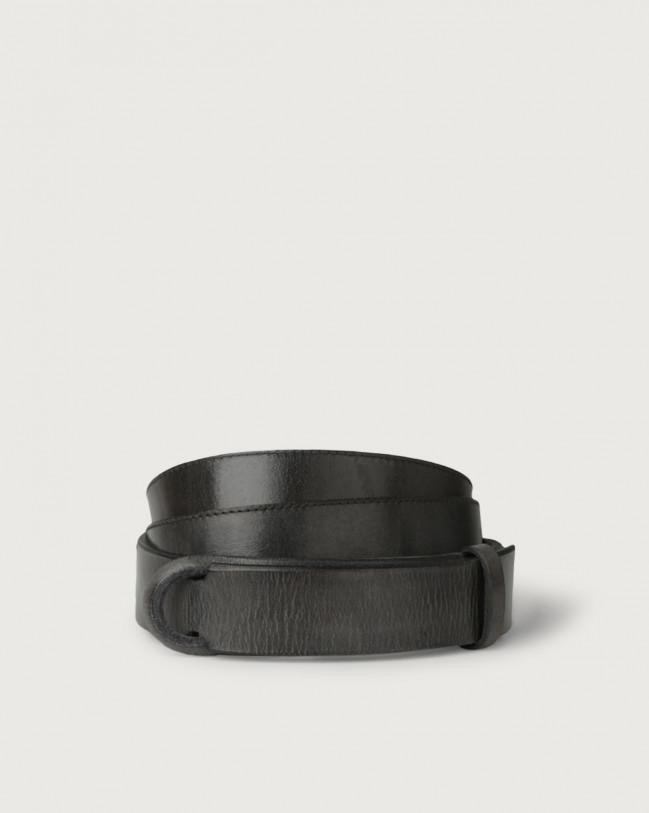 Orciani Dive leather Nobuckle belt Leather Dark grey