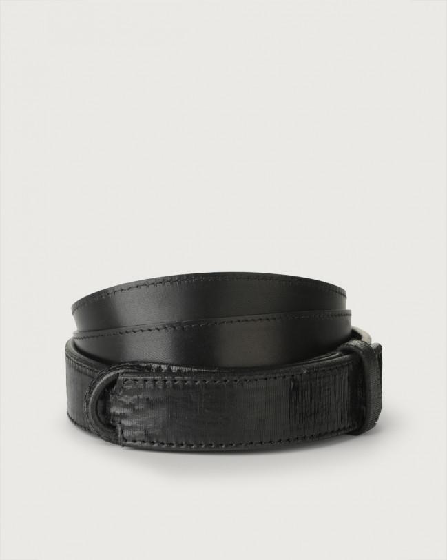 Orciani Cutting leather Nobuckle belt Leather Black