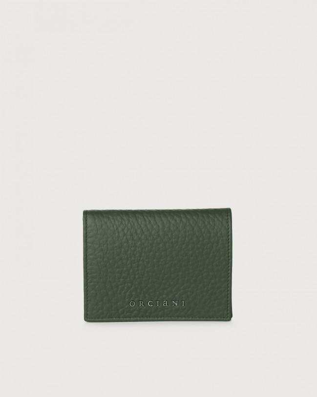 Orciani Soft small leather wallet Leather Green