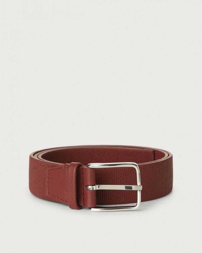 Orciani Micron stretch leather belt Leather Bordeaux
