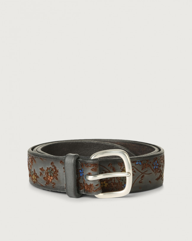 Orciani Blooming leather belt Leather Unique
