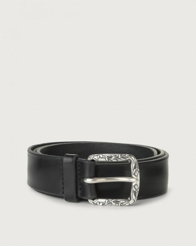 Orciani Bull Soft B leather belt Leather Blue