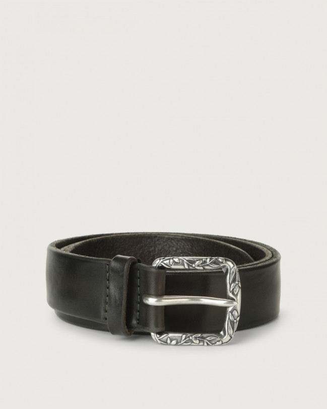Orciani Bull Soft B leather belt Leather Forest green