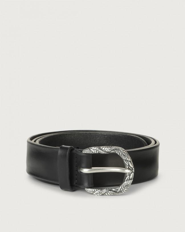 Orciani Bull Soft C leather belt Leather Blue