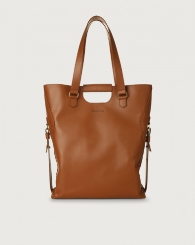 Isotta Piuma large leather shoulder bag