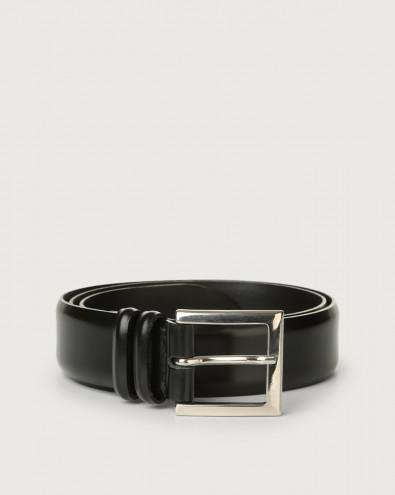 Calf classic leather belt