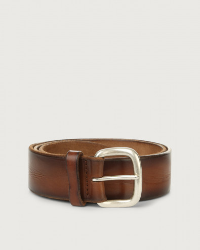 Buffer leather belt 4 cm
