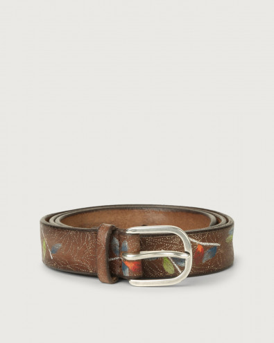 Bamboo leather belt