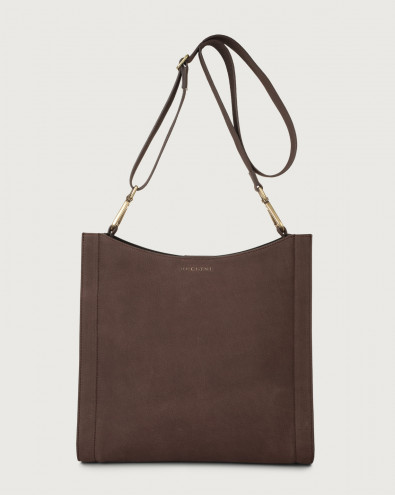 Iris Alicante nabuck leather crossbody bag