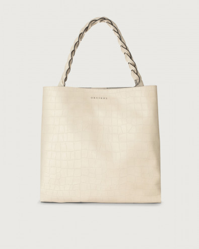 Jackie Grace croc-effect leather shoulder bag