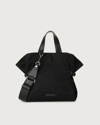 Fan Ecoline medium eco-nylon and leather handbag