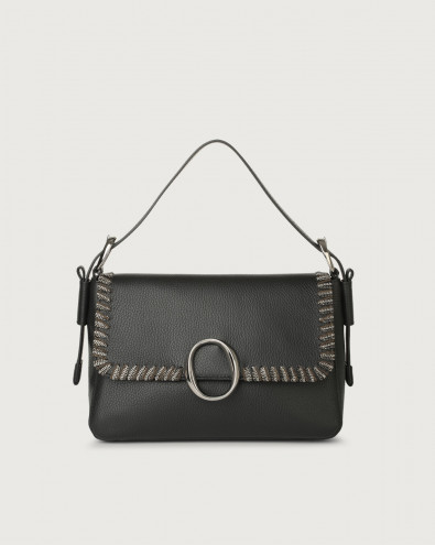 Soho Chain leather baguette bag with strap