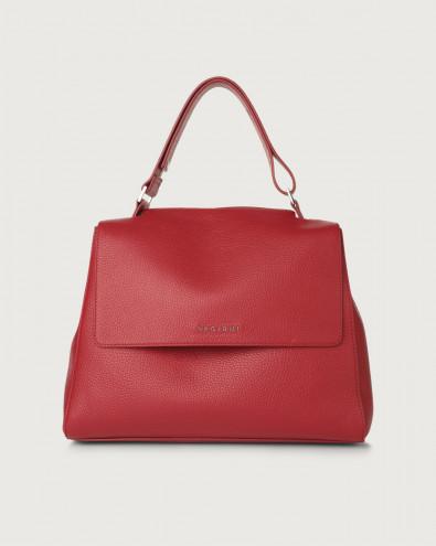 Sveva Micron medium leather shoulder bag with strap