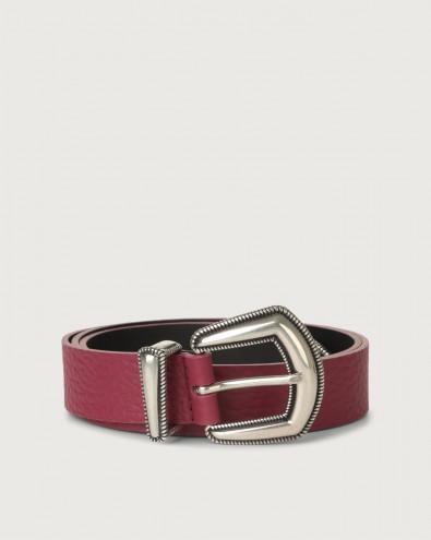 Soft western details leather belt