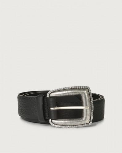 Soft leather belt 3,5 cm