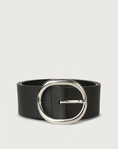 Soft high-waist leather belt 5 cm