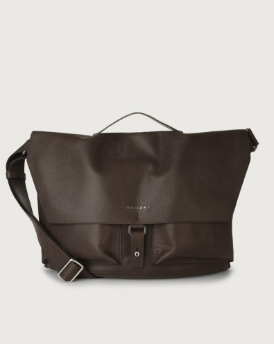 Chevrette nabuck leather crossbody bag