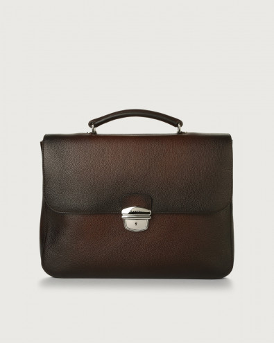 Micron Deep leather work bag