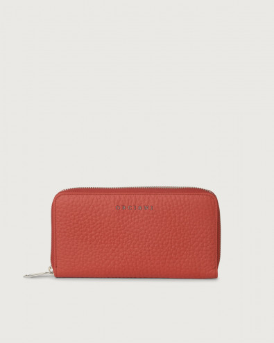 Soft large leather wallet with zip and RFID