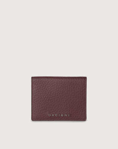 Soft small leather wallet with zip with card holder