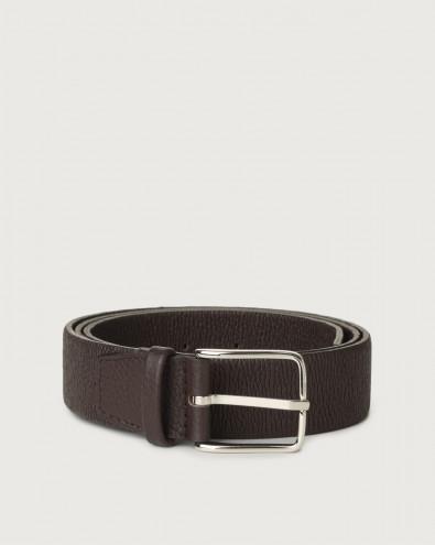 Micron stretch leather belt
