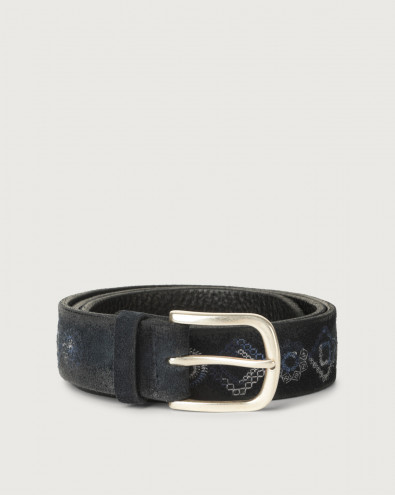 Cloudy Coat suede belt