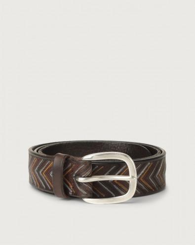 Arrow leather belt