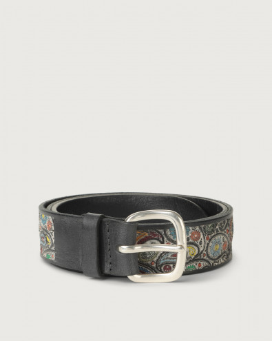 Kashmir leather belt