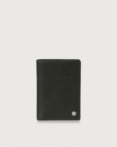 Frog leather vertical wallet