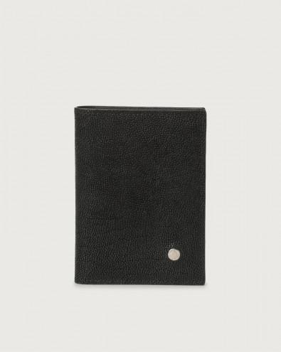 Frog leather vertical wallet