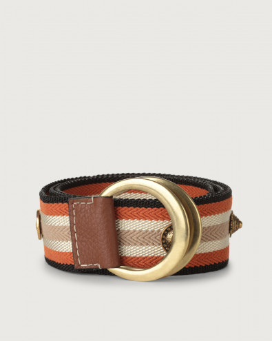 Fanty high-waist fabric belt