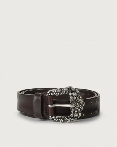 Bull Soft jewel buckle leather belt