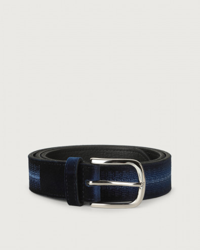 Velvet Led velvet and leather belt